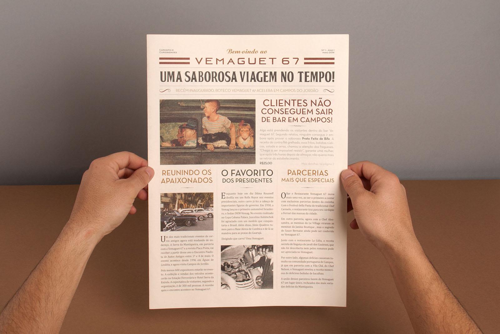 Entre as principais atrações, o Jornal/Cardápio do restaurante faz a alegria dos visitantes da Vila Capivari, que saboreiam as delícias da casa e ainda se informam sobre o universo dos antigos DKWs